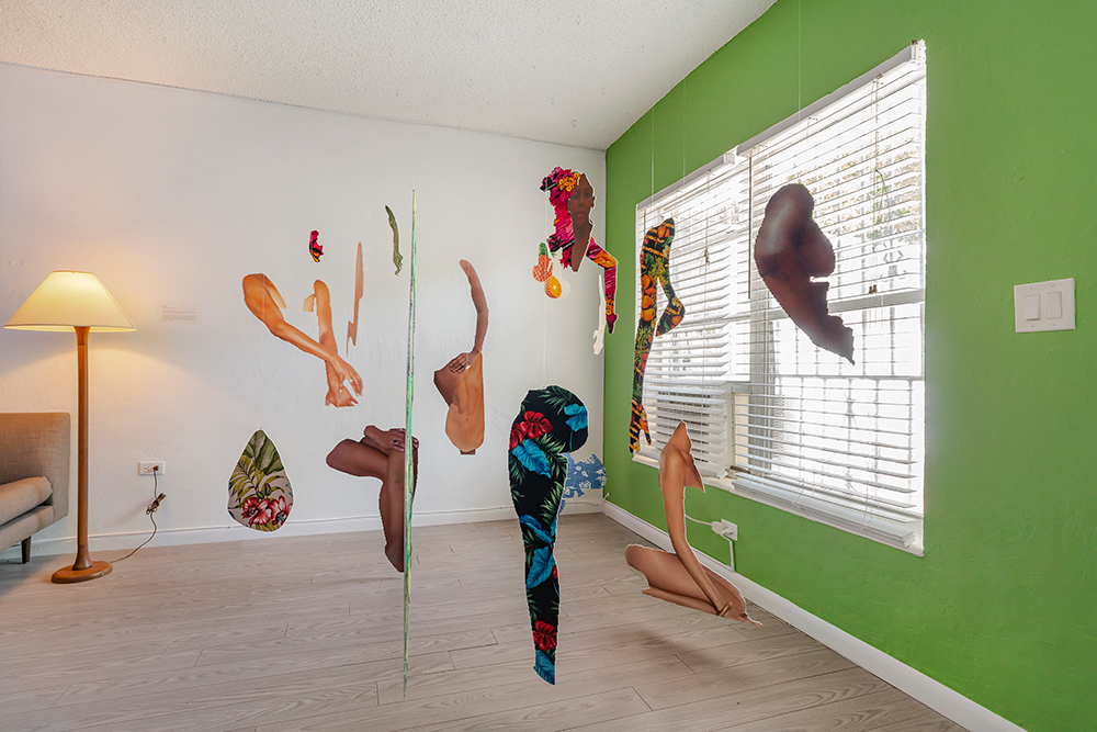 Joiri Minaya, #dominicanwomengooglesearch (2016). Installation view. Image courtesy the artist + Supplement Projects, Miami.