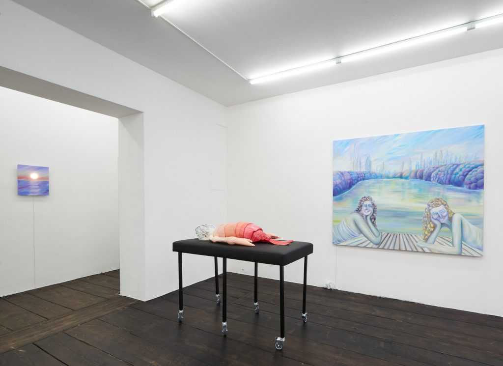Beatrice Marchi, <em>Happy Yellowing</em> (2020). Installation view. Photo by groupshow.eu. Courtesy Sandy Brown, Berlin.