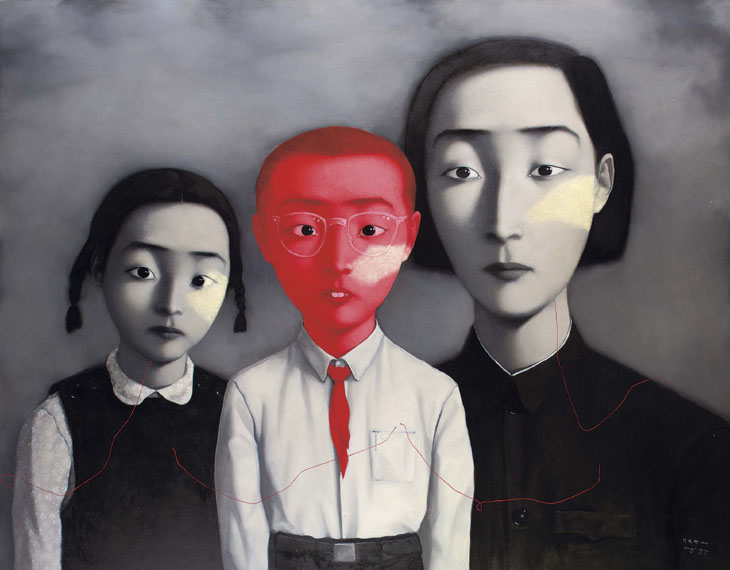 A big family by Zhang Xiaogang (Image via Saatchi Gallery)