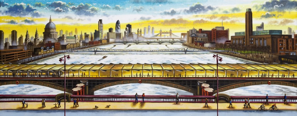 'Blackfriars Bridge Looking East' by John Duffin
