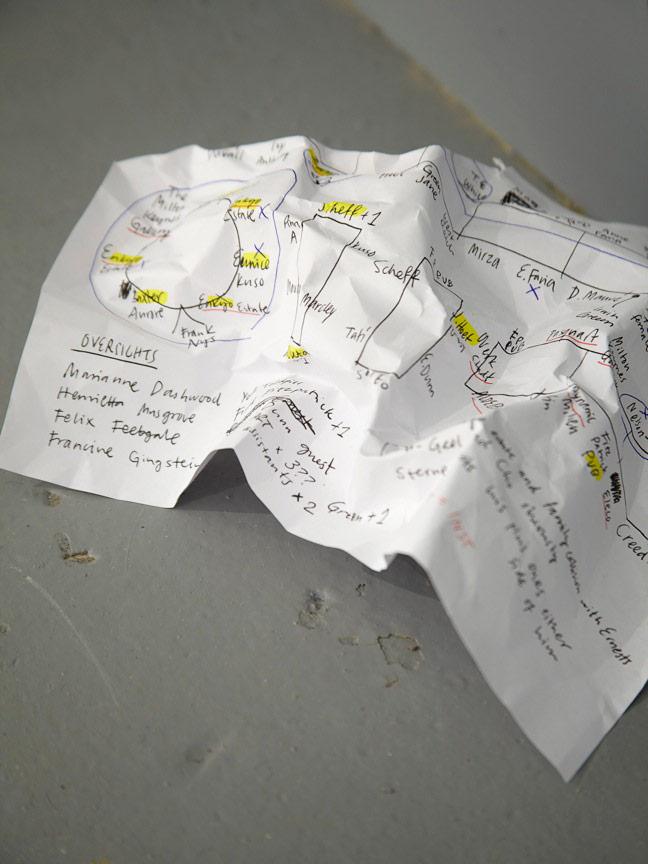 """""""paper"""" from Ryan Gander's Locked Room Scenario"""