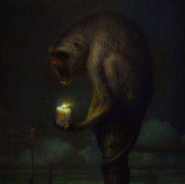 A Candle for Orphans, oil on canvas, 2009 - Martin Wittfooth