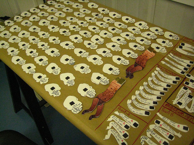 The puppets are held together using weak magnets which are glued onto the replacement components