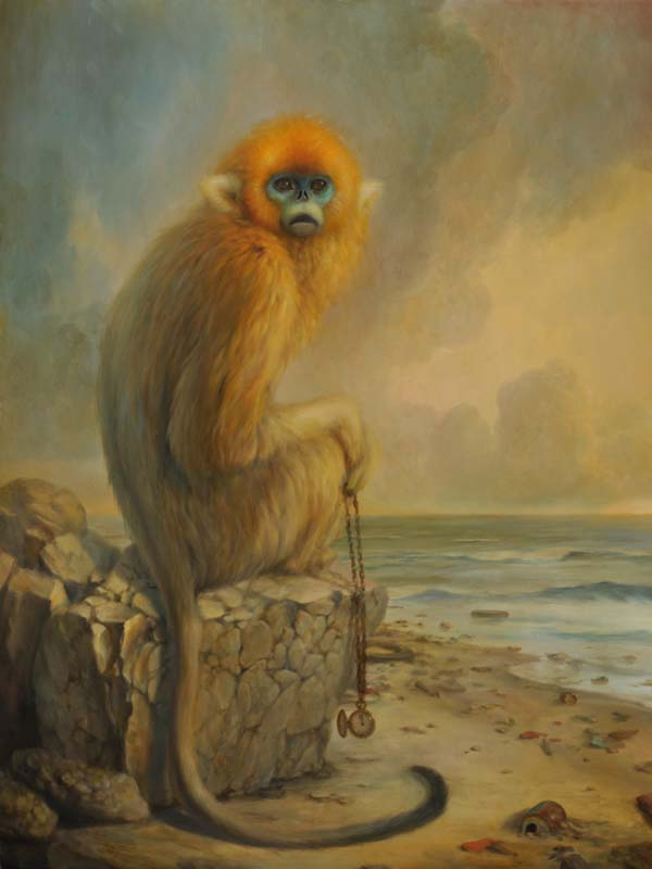 Memento, oil on panel - Martin Wittfooth