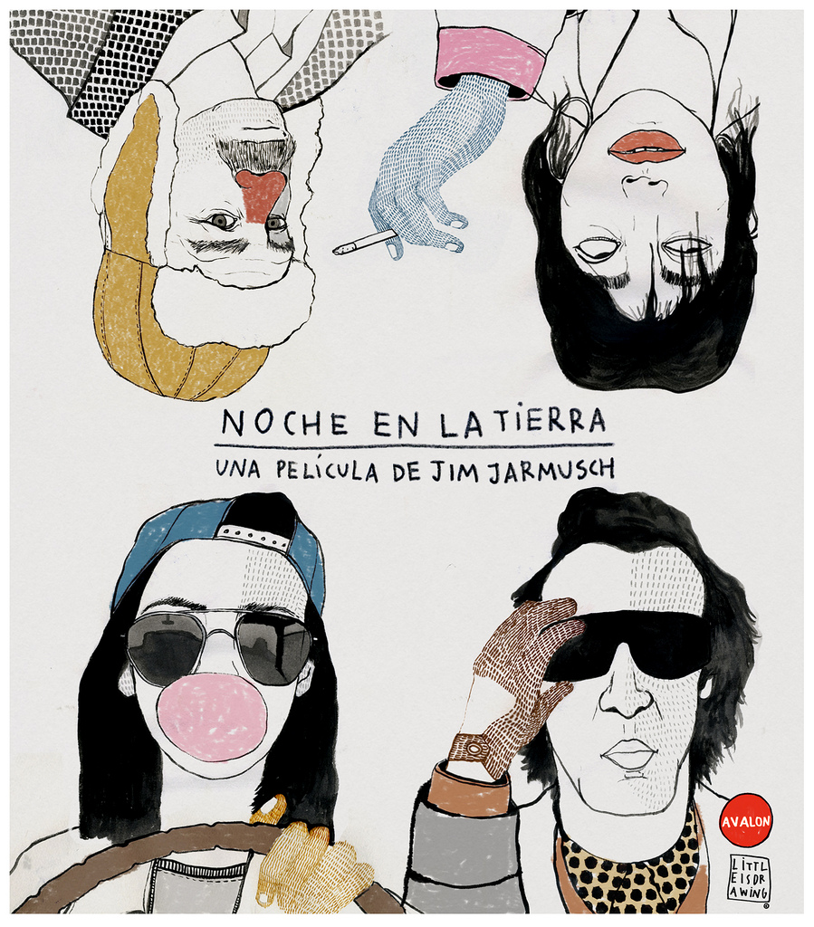 "Jim Jarmusch's ""Night on earth"" by Littleisdrawing (Carla Fuentes)"