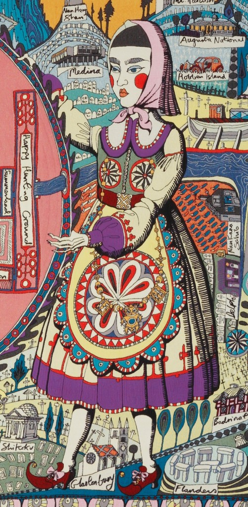 Grayson Perry, Map of Truths and Beliefs, (detail), 2011.