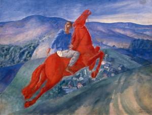 Fantasy by Kuzmá Petrov-Vodkin - 1925