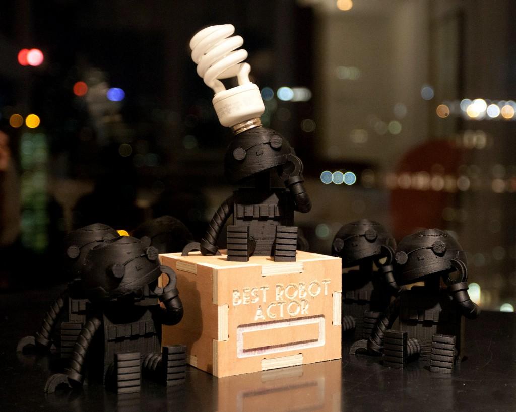botsker - the 3D printed robot statuette