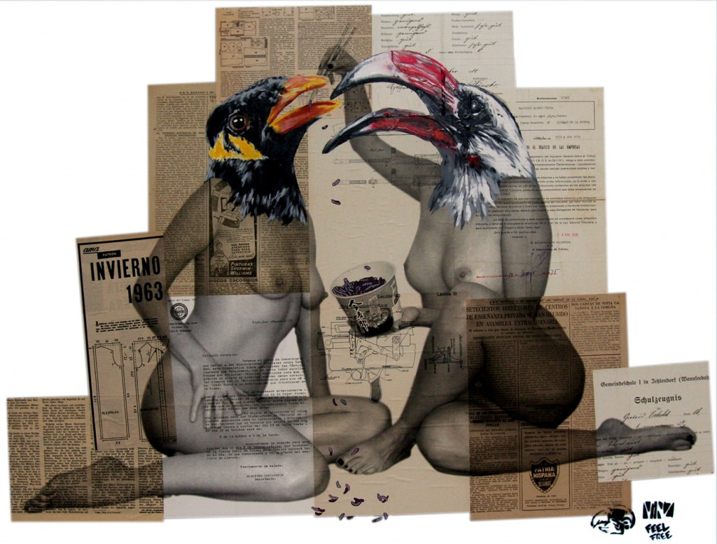Vinz - Dinner for two (Image by Jonathan Levine Gallery)
