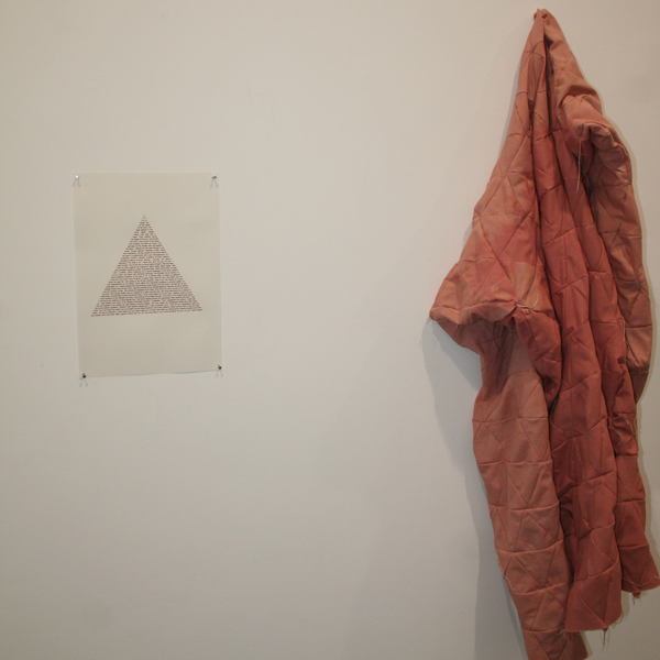 Adam Christensen, 493 Pink Triangles. Fabric. Courtesy the Artist and EB&Flow