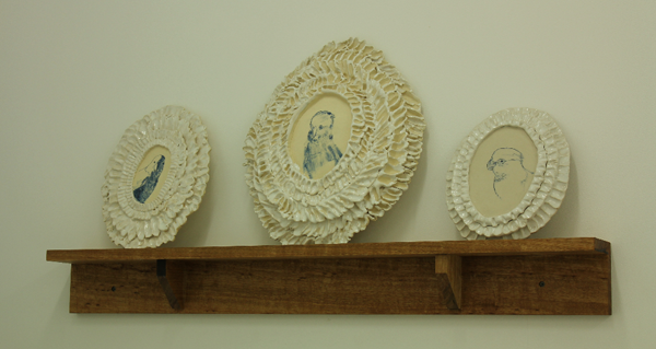 Avian Portraits (Mantlepiece) 2012. Courtesy of OK Gallery.