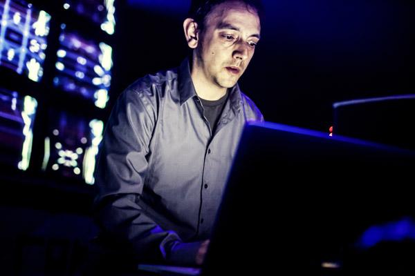 Cristian Vogel. Photo by Sarah Ginn-Kleiner.