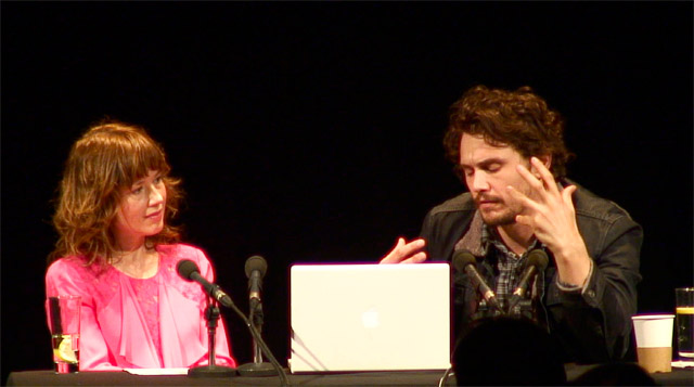James Franco and Katie Puckrik at Quickfire talk. Image courtesy of ICA.