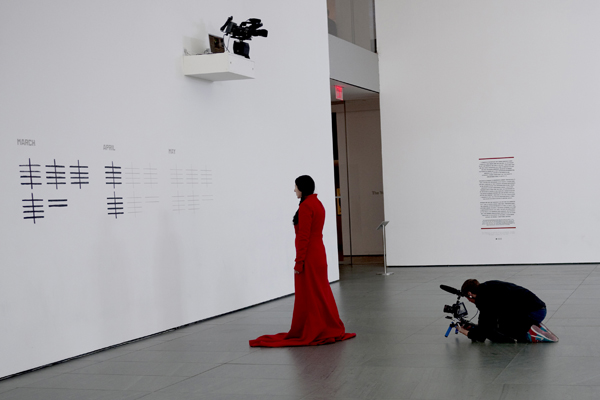 Marina Abramovic: The Artist is Present Film Still, 2010. Image courtesy The ICA London, Marina Abramovic, Matthew Akers and Show of Force.