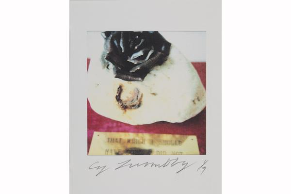 Cy CY TWOMBLY St Barth's, 2011 Color dry-print © 2012 Fondazione Nicola Del Roscio