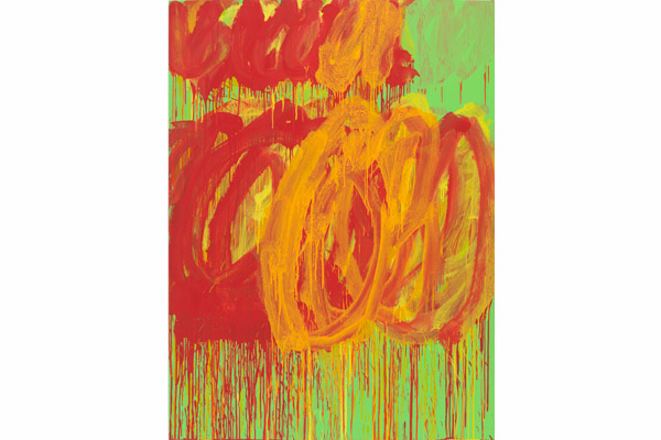 CY TWOMBLY, Untitled (Camino Real), 2011, Acrylic on plywood © Cy Twombly Foundation