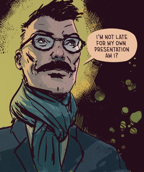 Dr Boyes, one of the characters from from Moth City (image via Tim Gibson)