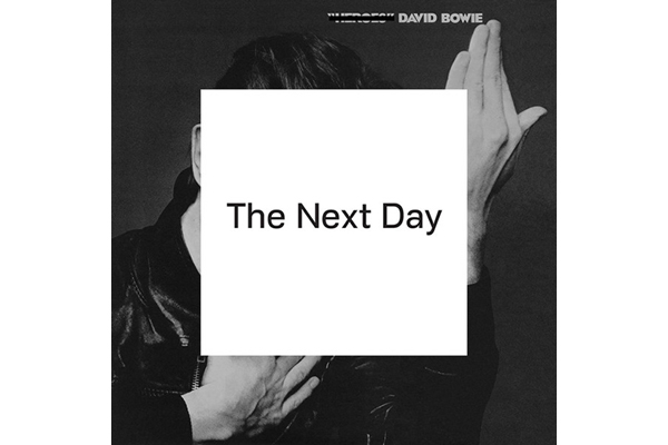 David Bowie's The Next Day album cover.