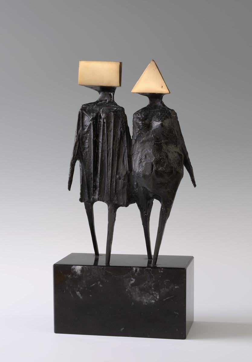 Lynn Chadwick - Maquette VI Walking Couple - (1976 via Alan Wheatley Art)