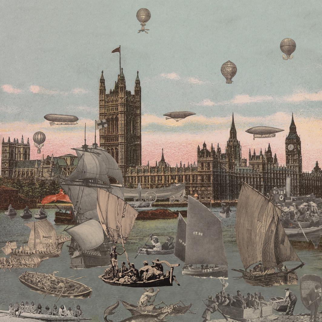Sir Peter Blake - London- River Thames Regatta (2012 - Paul Stolper Gallery)