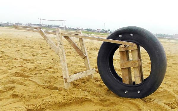 Karimah Ashadu, 'Camera Wheel Mechanism' from 'Lagos Island' (2012).