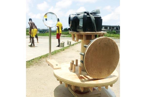Karimah Ashadu, 'Rotate 1 Mechanism' - as used in 'Apapa Amusement Park'. (2013). Image courtesy of the artist.