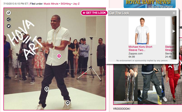 PerezHilton.com 'Get The Look' feature.