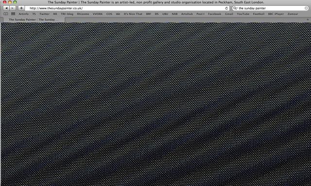 Nicolas Sasson, The Sunday Painters website takeover.