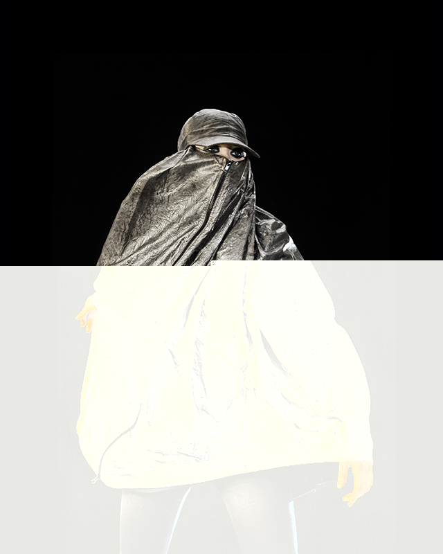 Adam Harvey, 'Anti-Drone' Burqa (2013).