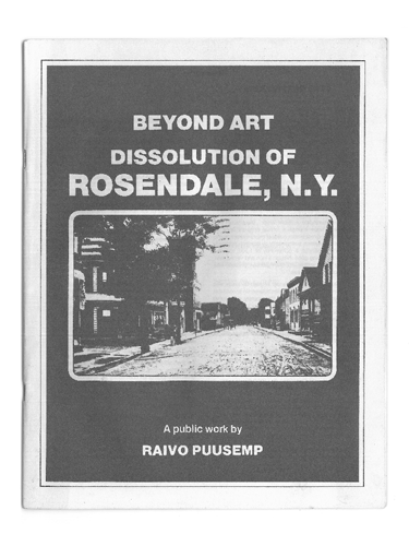Beyond Art- The Dissolution of Rosendale