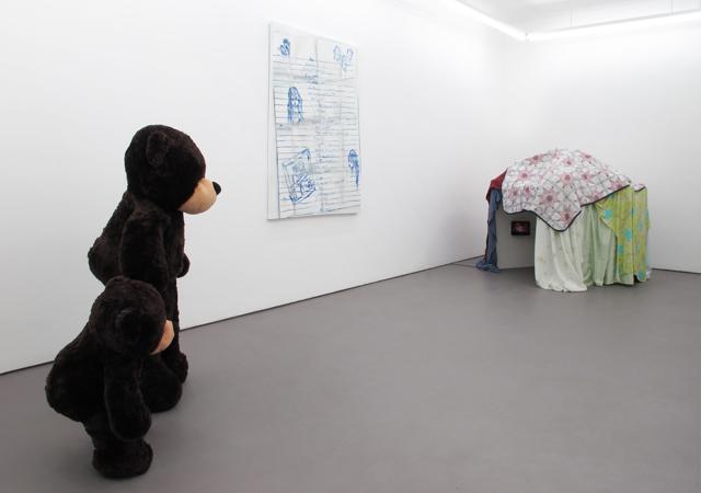 Ann Hirsch, Muffy exhibition view. Image courtesy American Medium.