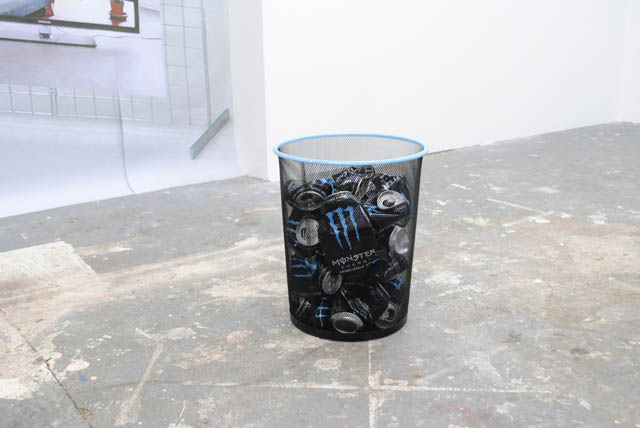 Barnie Page, 'this ain't soda pop, dude!' (2014) @ Jupiter Woods install view. Courtesy Barnie Page.