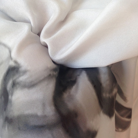 18+, 'Bitch' (2014). Detail. Silk scarf. Courtesy the artists.