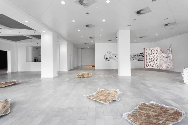'One step ahead moving backwards' (2014) installation view. Photo by Ivo Gretener. Courtesy LEAP, Berlin.