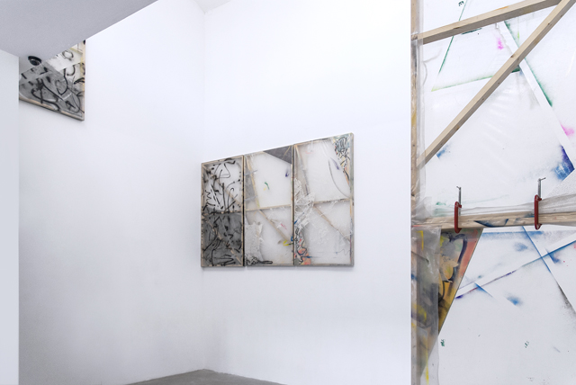 Antoine Donzeaud, 'Untitled PE (Caring 01, 02, 03, 04, 05, 06)'. Installation view. Courtesy the artist.