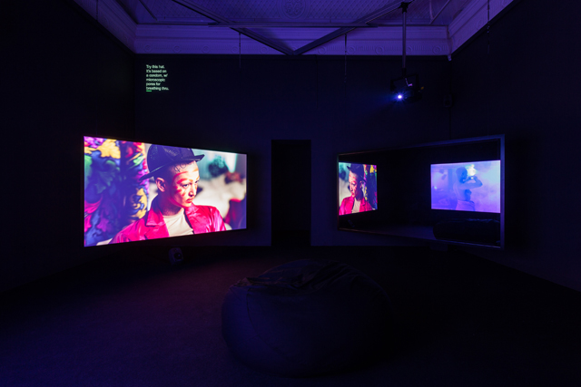 Wu Tsang, 'A day in the life of bliss' (2014). Installation view of Looks (22 April 2015 - 21 June, 2015). Institute of Contemporary Arts London (ICA). Photo by Mark Blower.