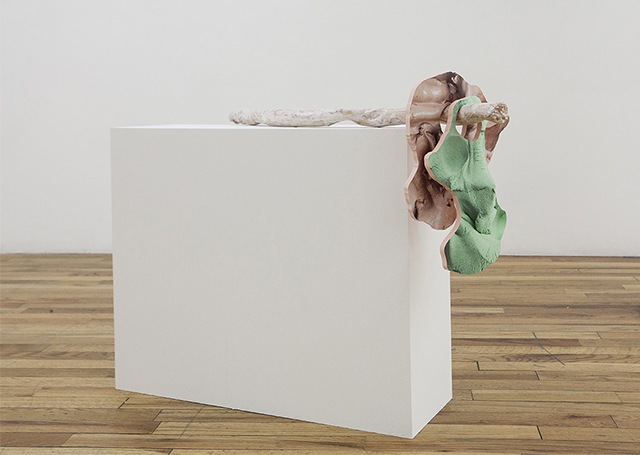 'Two Surfaces and a Squish' (2015), installation view. Image courtesy Kansas.