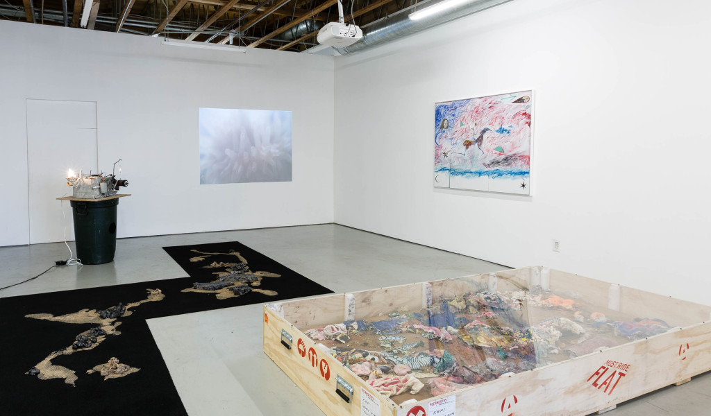 Dredgers On the Rail (2015). Exhibition view. Courtesy Freedman Fitzpatrick, Los Angeles.
