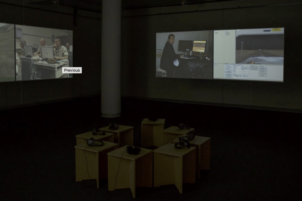 Harun Farocki, Serious Games I-IV (2014). Installation view. Courtesy CAC, Vilnius.