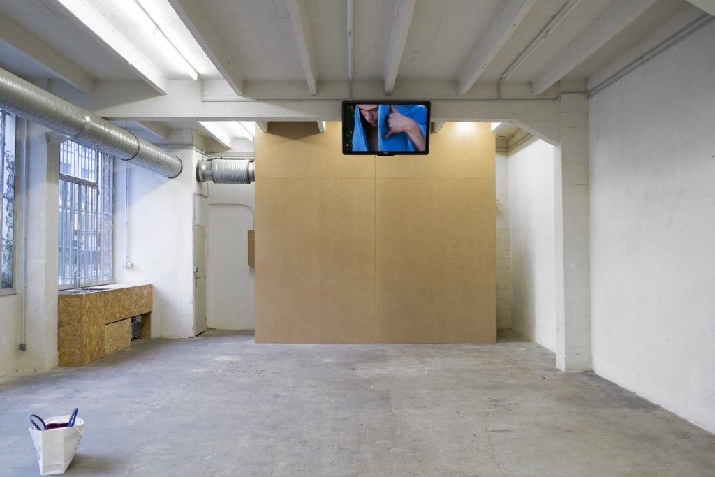 Yves Scherer, Where is the love (2015). Exhibition view. Courtesy Exo, Paris.
