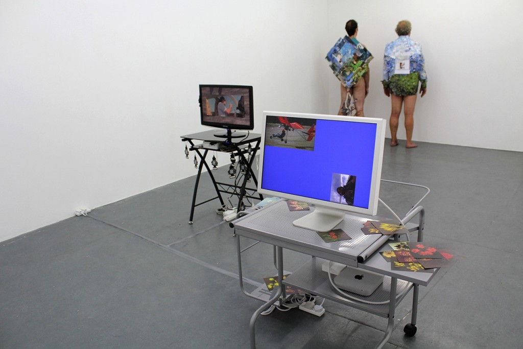 Abri de Swardt, Catapult Screensaver (2013). Installation view, MOT Projects.