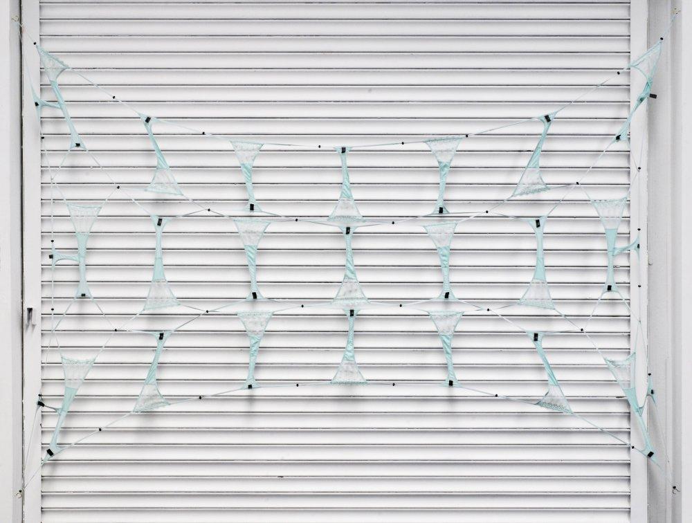 Amalia Ulman, 'Untitled (Safety Net)' (2014) Install view. Courtesy the gallery Ellis King, Dublin.