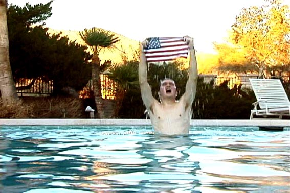 Jen DeNike, 'Flag Boy' (2007). Video still. Courtesy Anat Ebgi, Los Angeles.