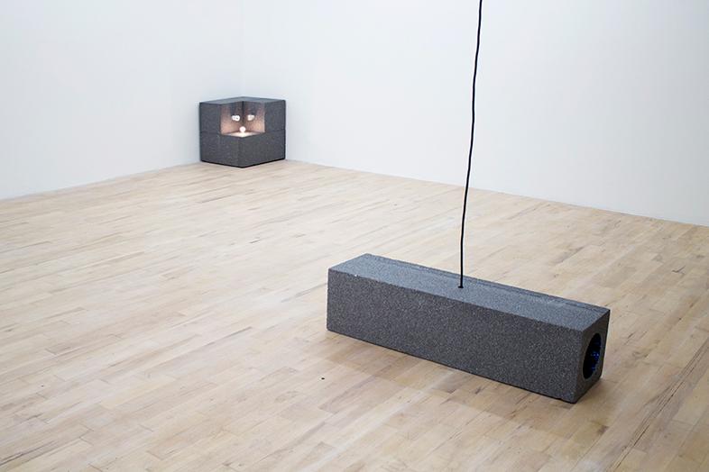 Piotr Łakomy, Life Size Shadow (2013) @ The Sunday Painter. Installation view.