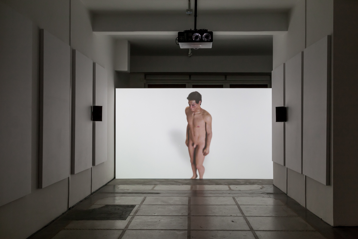 Ed Atkins, 'Hisser' (2015). Install view. Photo by Sven Laurent. Courtesy dépendance, Brussels.