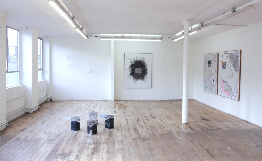 Juliette Bonnevïot + Christopher Kulendran Thomas, From Dust (2015). Exhibition view. Courtesy LD50, London.
