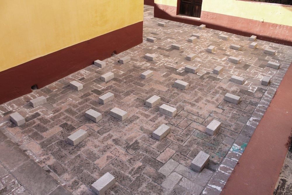 Garrett Nelson, 'Blocks (Cruising)' (2015) Install view. Courtesy Museo de la Ciudad Querétaro, México.