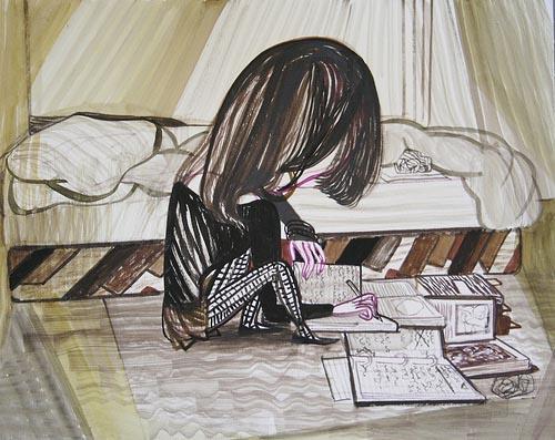 Emma Talbot, 'Writing' (2011). Courtesy the artist.