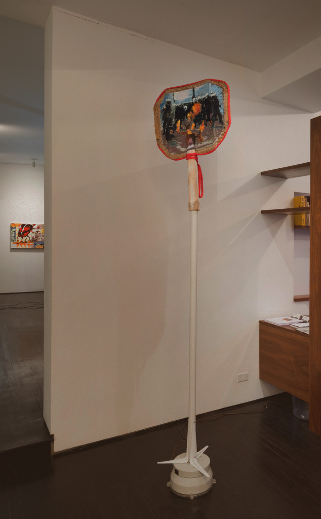 Nolan Simon + Dylan Spaysky, 'Your anger is a gift' (2015). Install view. Photo by Adam Reich. Courtesy km temporaer.