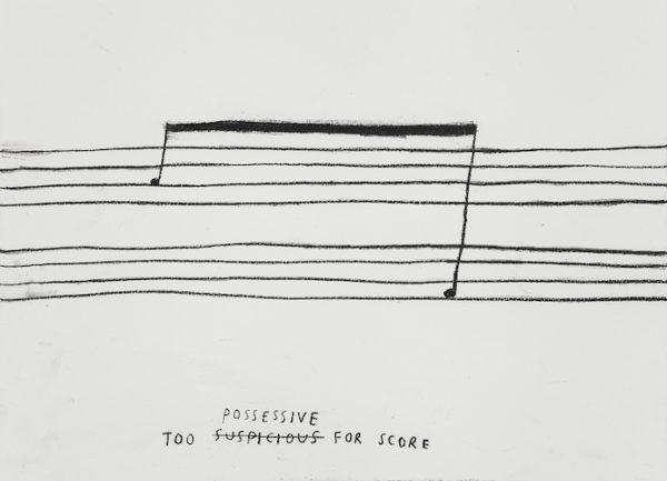 Christine Sun Kim, too possessive for score (2015). Courtesy the artist